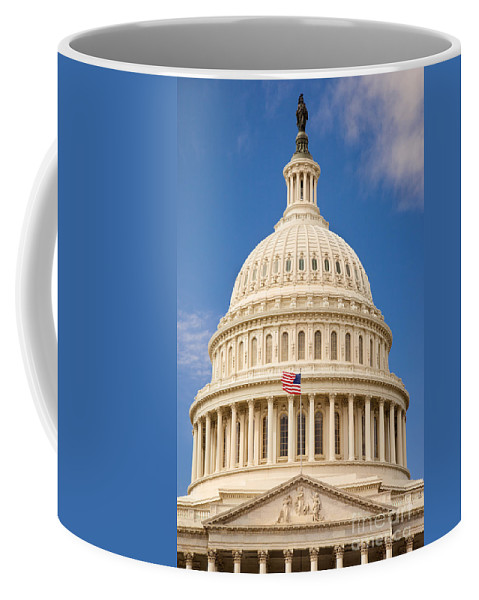 America Coffee Mug featuring the photograph Capitol Dome by Brian Jannsen