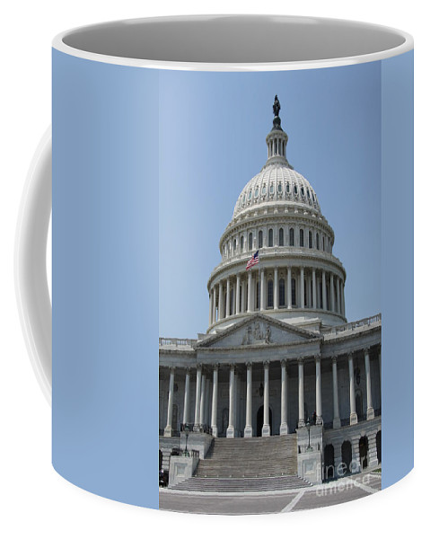 Cupola Coffee Mug featuring the photograph Capitol Washington Dc by Christiane Schulze Art And Photography