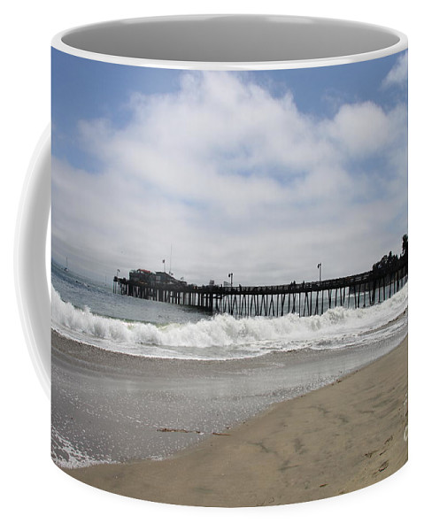 Capitola Wharf Coffee Mug featuring the photograph Capitola Wharf by Christiane Schulze Art And Photography