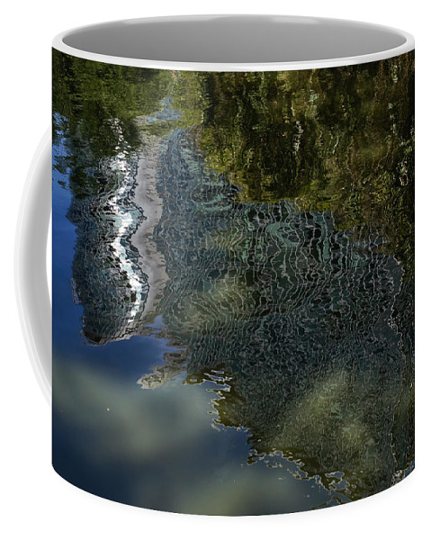 Green Sunspots Coffee Mug featuring the photograph Capricious Green Sunspots Shadows And Reflections by Georgia Mizuleva