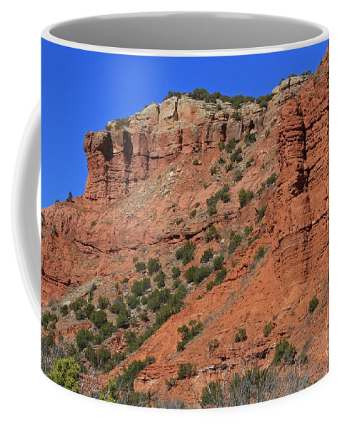 Texas Coffee Mug featuring the photograph Caprock Canyon 3 by Ashley M Conger