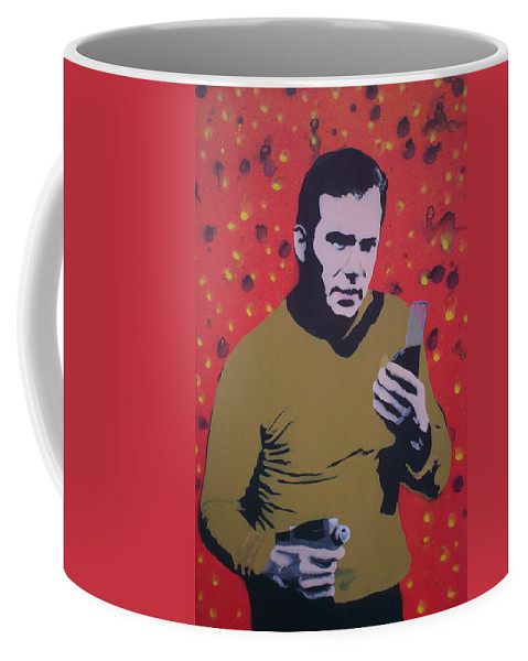 Star Trek Coffee Mug featuring the painting Captain Kirk by Gary Hogben