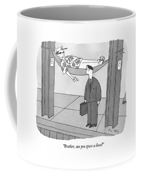 Money Coffee Mug featuring the drawing Caption Contest 210 - Winner by Peter C. Vey