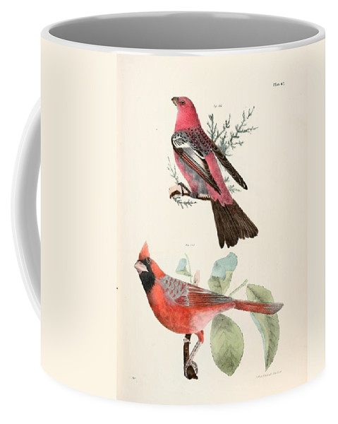 Cardinals Coffee Mug featuring the painting Cardinals by Philip Ralley
