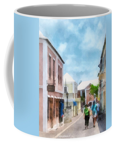 St Georges Coffee Mug featuring the photograph Caribbean - A Street In St. George's Bermuda by Susan Savad