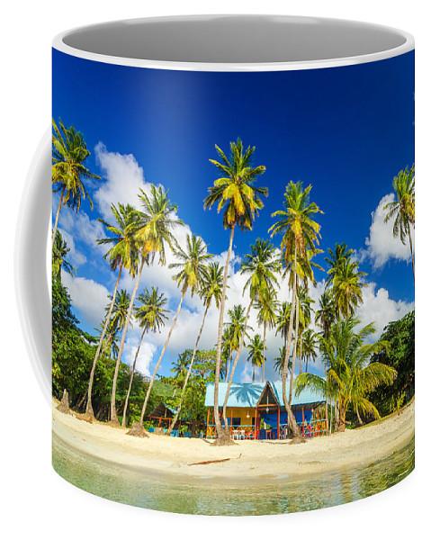 Bay Coffee Mug featuring the photograph Caribbean Beach Shack by Jess Kraft