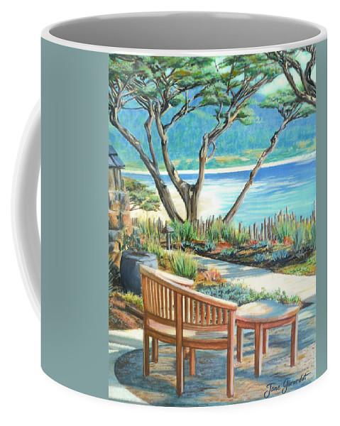 Carmel Coffee Mug featuring the painting Carmel Lagoon View by Jane Girardot
