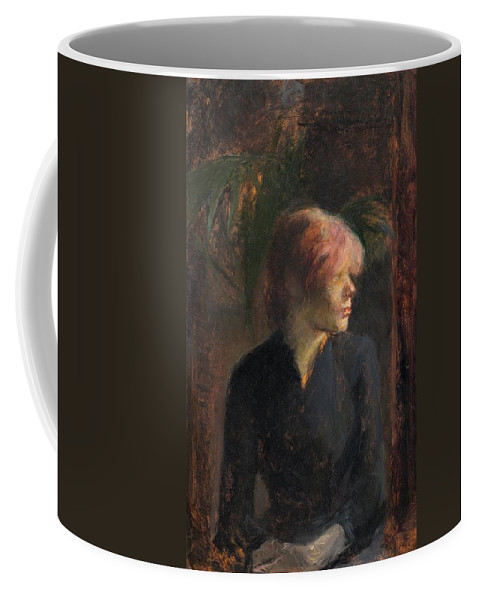 1885 Coffee Mug featuring the painting Carmen Gaudin by Toulouse-Lautrec