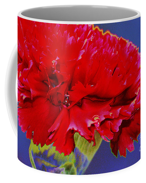 Carnation Coffee Mug featuring the digital art Carnation Carnation by Carol Lynch