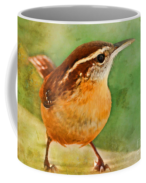 Nature Coffee Mug featuring the photograph Carolina Wren Greeting Card Size by Debbie Portwood