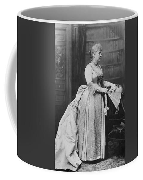 1889 Coffee Mug featuring the photograph Caroline Lavinia Harrison (1832-1892) by Granger