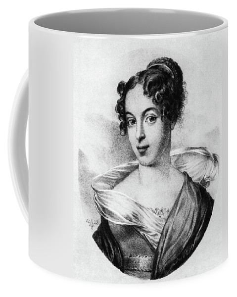 1823 Coffee Mug featuring the painting Caroline Unger-sabatier (1803-1877) by Granger
