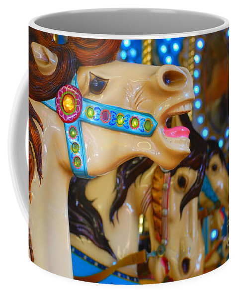 Carousel Coffee Mug featuring the photograph Carousel by Chanel Fernandez