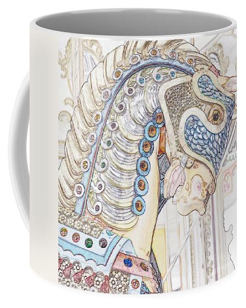 Carousel Coffee Mug featuring the photograph Carousel Stallion by Lilliana Mendez