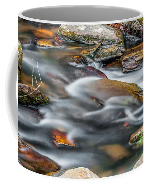 Optical Playground By Mp Ray Coffee Mug featuring the photograph Carreck Creek Cascades by Optical Playground By MP Ray