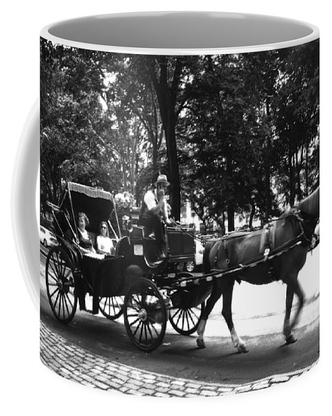 Carriage Coffee Mug featuring the photograph Carriage Ride Nyc by Conor McLaughlin