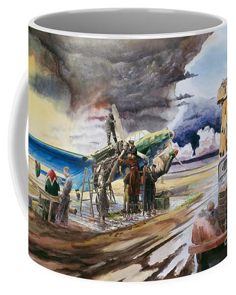 Sky Coffee Mug featuring the painting Carrr by Oleg Konin