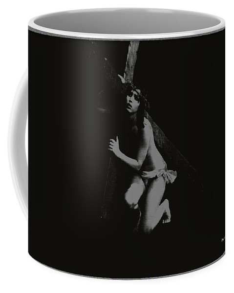 Experimental Coffee Mug featuring the photograph Carrying The Cross by Ramon Martinez