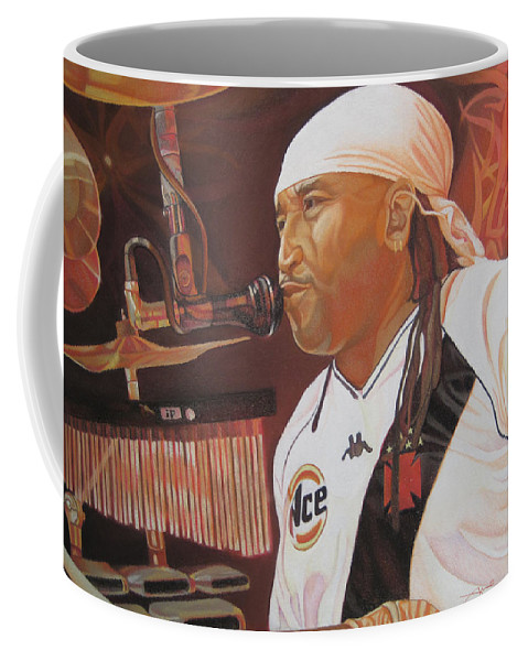Carter Beauford Coffee Mug featuring the drawing Carter Beauford At Red Rocks by Joshua Morton