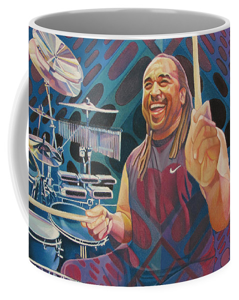 Carter Beauford Coffee Mug featuring the drawing Carter Beauford Pop-op Series by Joshua Morton