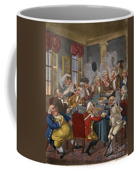18th Century Coffee Mug featuring the photograph Cartoon: The Smoking Club by Granger