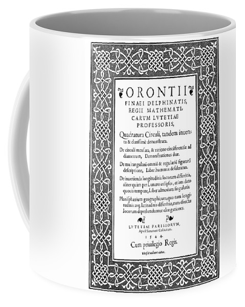 1544 Coffee Mug featuring the painting Cartouches, 1544 by Granger