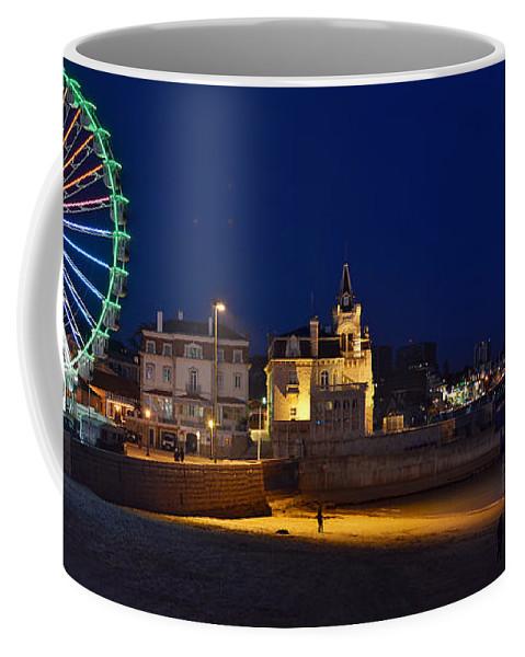 Cascais Coffee Mug featuring the photograph Cascais By Night - Portugal by Carlos Alkmin