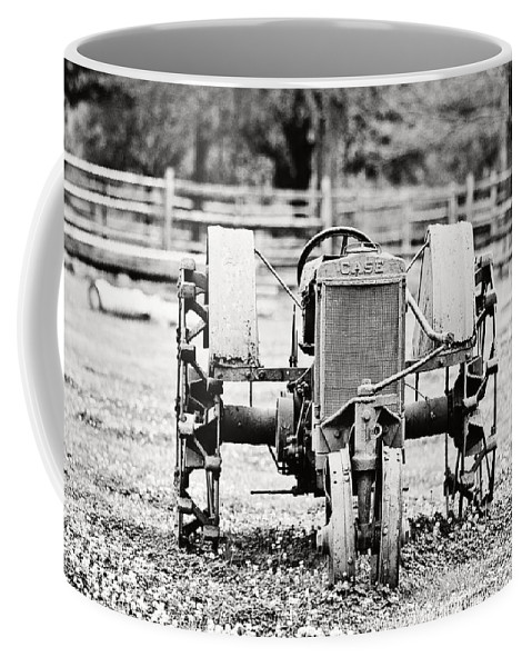 Case Coffee Mug featuring the photograph Case Tractor - Bw by Scott Pellegrin