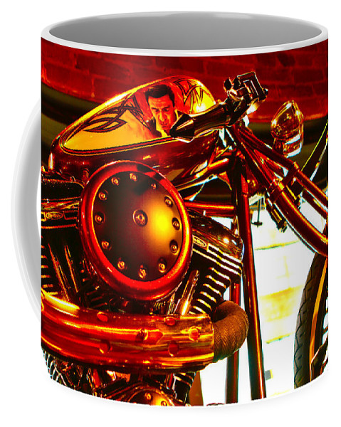Johnny Cash Coffee Mug featuring the photograph Cash Custom by Jeff Kurtz