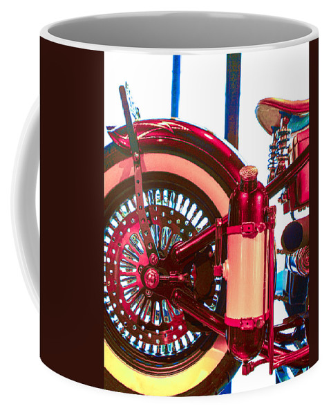 Johnny Cash Coffee Mug featuring the photograph Cash Wheels by Jeff Kurtz