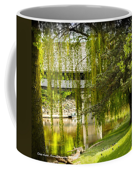 Cass River Frankenmuth Michigan Covered Bridge Coffee Mug featuring the photograph Cass River Frankenmuth Michigan by LeeAnn McLaneGoetz McLaneGoetzStudioLLCcom