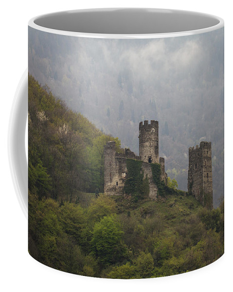 Clare Bambers Coffee Mug featuring the photograph Castle In The Mountains. by Clare Bambers