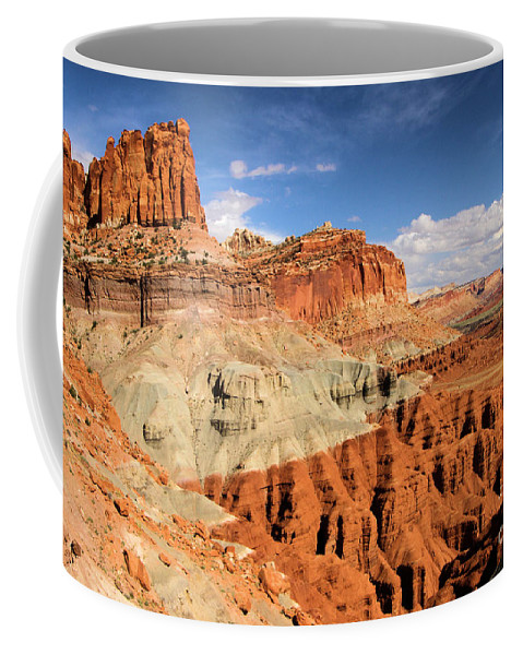 Castle Coffee Mug featuring the photograph Castle In The Sky by Adam Jewell