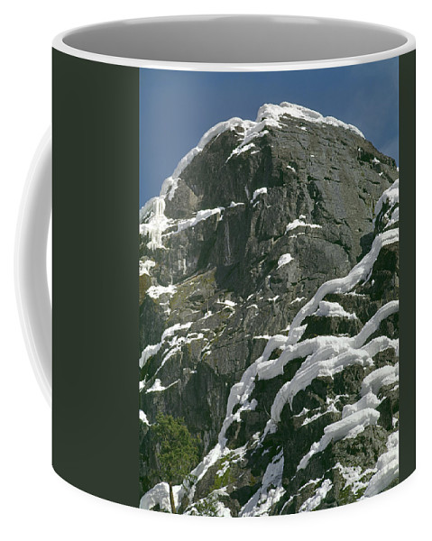 Castle Rock Coffee Mug featuring the photograph 104619-castle Rock In Winter Dress by Ed Cooper Photography