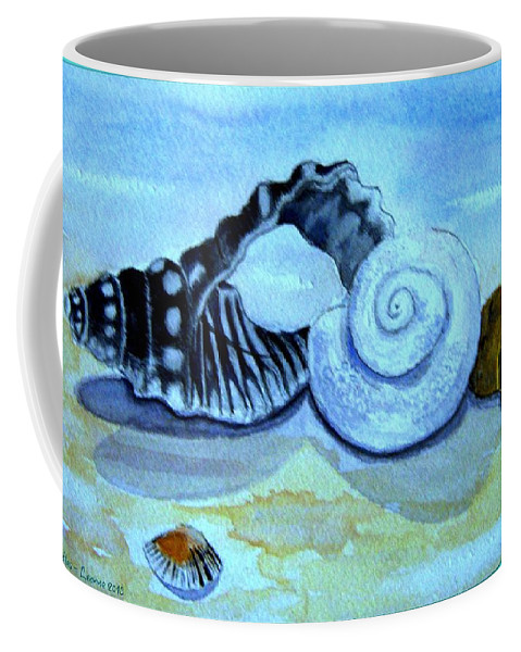 Shells Coffee Mug featuring the painting Castles In The Sand by Leanne Seymour