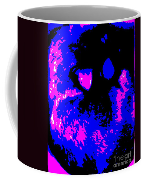 Blue Coffee Mug featuring the photograph Cat Abstract by Eric Schiabor