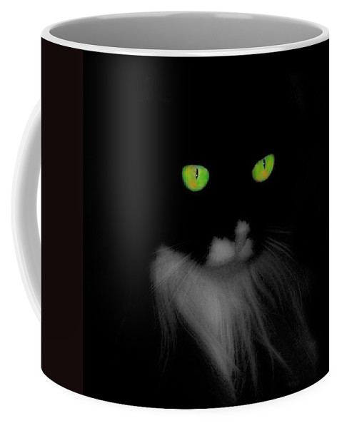 Cat Coffee Mug featuring the photograph Cat Eyes by Gothicrow Images