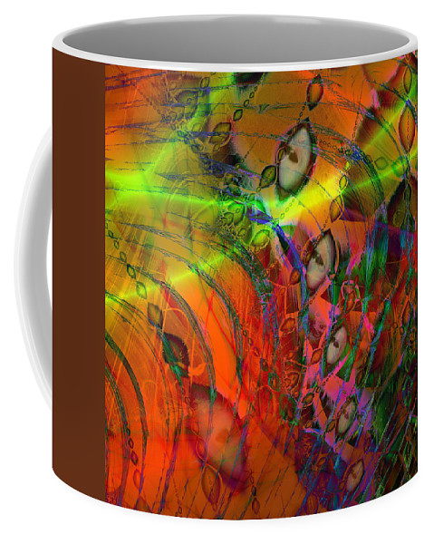 Abstract Coffee Mug featuring the digital art Cat Eyes by Kiki Art