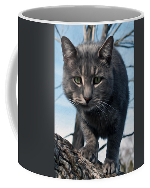 Cat Coffee Mug featuring the photograph Cat Tree by Photos By Cassandra