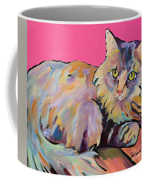Pat Saunders-white Coffee Mug featuring the painting Catatonic by Pat Saunders-White