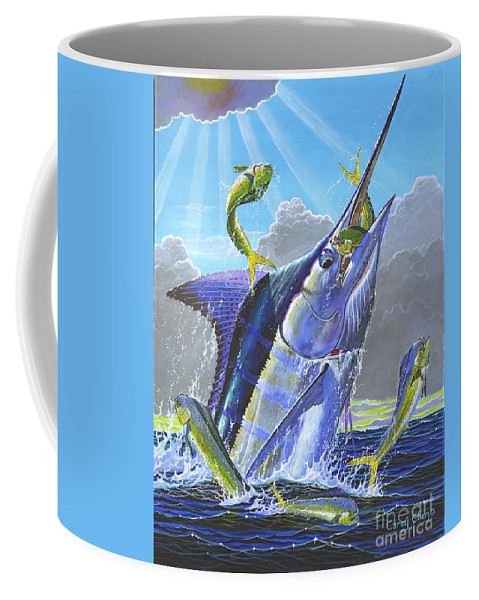Marlin Coffee Mug featuring the painting Catch Em Up Off0029 by Carey Chen