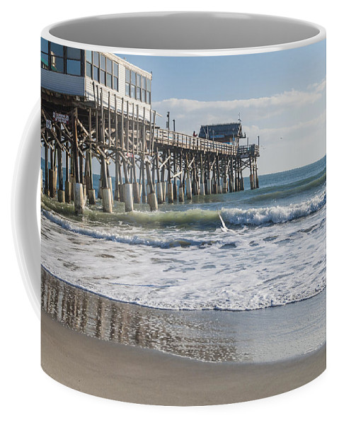 Catch Of The Day Cocoa Beach Pier Florida Seascape Coffee Mug featuring the photograph Catch Of The Day by Brian Harig