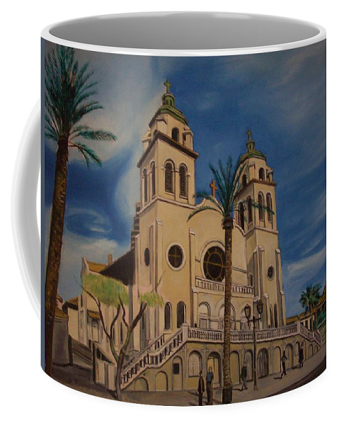 Coffee Mug featuring the painting Cathedral by Jude Darrien