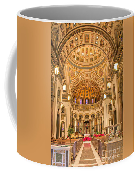 Cathedral Of The Sacred Heart Coffee Mug featuring the photograph Cathedral Of The Sacred Heart 2 by Jemmy Archer