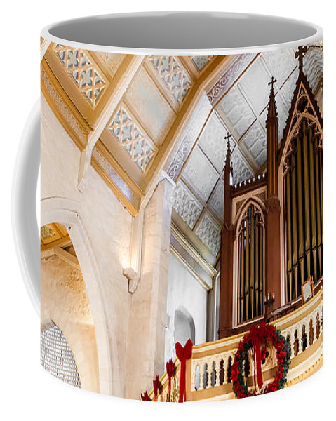 Cathedral Coffee Mug featuring the photograph Cathedral Organ by Melinda Ledsome