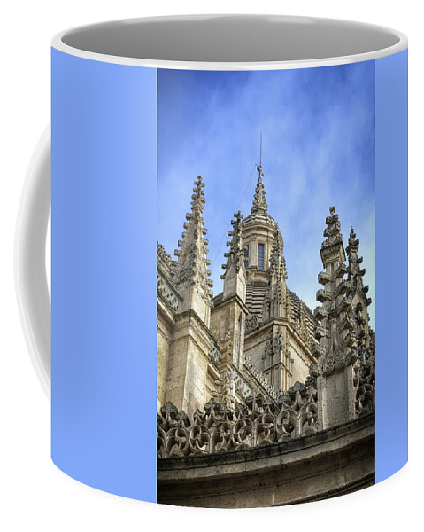 Spires Coffee Mug featuring the photograph Cathedral Spires by Joan Carroll