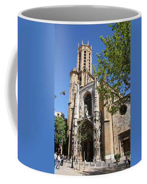 Cathedral Coffee Mug featuring the photograph Cathedral St Sauveur - Aix En Provence by Christiane Schulze Art And Photography