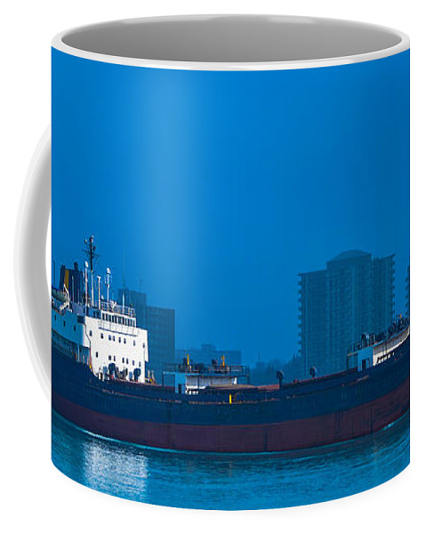 Catherine Desgagnes Coffee Mug featuring the photograph Catherine Desgagnes Downbound At Port Huron by Gales Of November