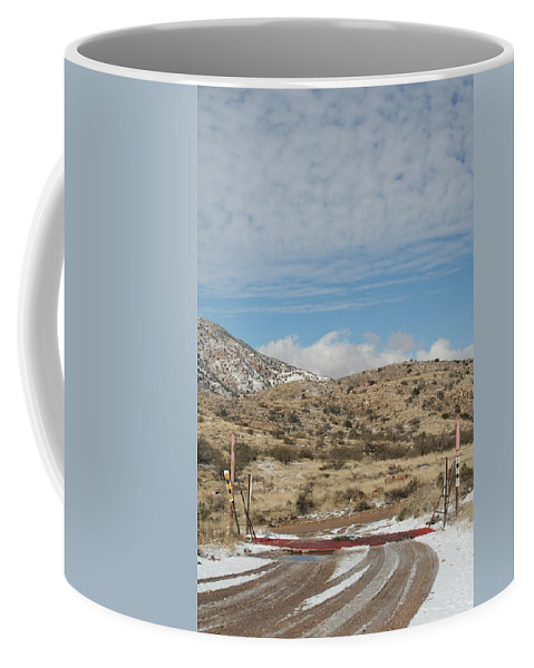 Snow Coffee Mug featuring the photograph Cattle Guard by David S Reynolds