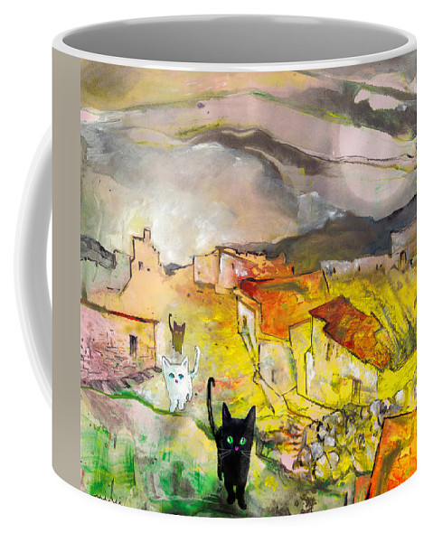 Animals Coffee Mug featuring the painting Catwalk by Miki De Goodaboom
